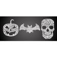 Abstract halloween symbols vector image