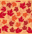 autumn seamless pattern vector image
