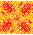 Mosaic yellow red square background vector image