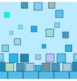 Square blue seamless pattern vector image