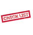 Check List rubber stamp vector image