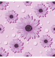 seamless violet pattern with flowers vector image