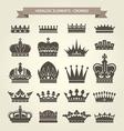 Heraldic crowns set - monarchy coronet vector image vector image