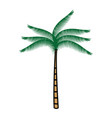 tree palm tropical icon vector image