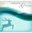 Abstract Christmas background with reindeer vector image vector image