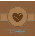 Coffee beans heart Card Blue text vector image