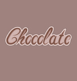 Delicious chocolate letters can be used for your vector image vector image