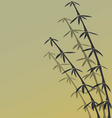 japanese bamboo background vector image vector image
