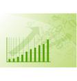 green graph vector image vector image