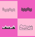 black charts collection on vector image