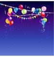 Bright holiday card vector image