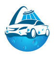 car washing symbol vector image