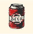 craft beer bottle pub sketch vector image