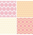 Four tribal pink and yellow abstract geometric vector image