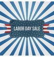 Labor Day Sale national Badge vector image