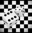 playing dice for a casino on a transparent vector image