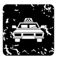 Taxi car icon grunge style vector image