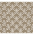White Royal Flower Seamless Pattern on brown vector image
