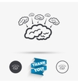Brain sign icon Brainstorm business ideas vector image
