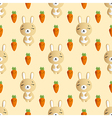 rabbit and carrot on a beige background vector image