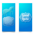 good luck wishing blue vertical banners vector image