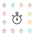 isolated stopwatch icon chronometer vector image