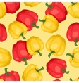 Seamless pattern with fresh ripe peppers vector image