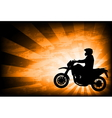 motorcyclist background 3 vector image