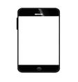 Mobile smart phone black 380 vector image