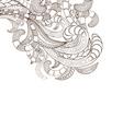 Doodle art design background vector image