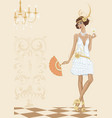 Woman in style of the twenties vector image