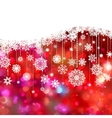 christmas card decoration vector image