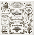 Vintage Restaurant Label Set vector image