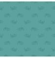 Seamless blue leaf retro pattern vector image