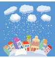 Winter in city vector image