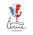 Logotype sign - wine from France vector image vector image