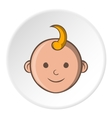 Babys face icon cartoon style vector image