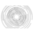 Black round tech circles outline drawing design vector image
