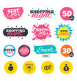 business signs human and presentation board vector image