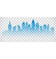 Cityscape blue icon on transparent background vector image