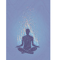 concept of meditation enlightenment human vector image