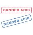 Danger acid textile stamps vector image