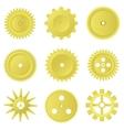 Golden gear set vector image