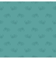 Seamless blue leaf retro pattern vector image