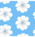 white flowers seamless white flowers seamless vector image