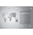 Paper airplanes fly over the world map vector image vector image