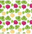 Radish seamless pattern Red and white radishes vector image