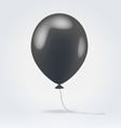 Glossy black balloon vector