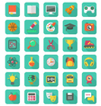 Flat Education and Leisure Icons Set vector image