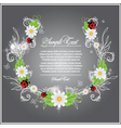 branch with flower vector image